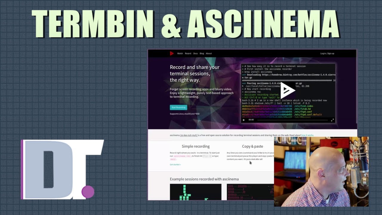 A Command Line Pastebin and a Terminal Session Recorder - Termbin &  Asciinema