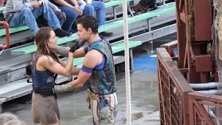 WaterWorld 2018 stunt show at Universal Studios Hollywood. A Live Sea War Spectacular