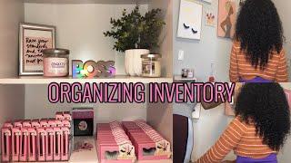 INVENTORY SETUP AS AΝ ENTREPRENEUR | Unpack + Organize my BUSINESS with me! | ENTREPRENEUR LIFE