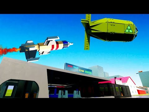 Anti Nuke Missile Saves Lego City of Bricksville - Brick Rigs Best Workshop Creations Gameplay