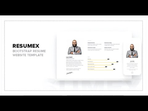 resumex bootstrap resume website template themeforest download