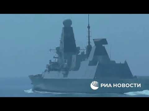 Опубликована видеозапись переговоров российских пограничников с британским эсминцем