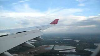Kingfisher Airlines A330-200 Landing at LHR after flight from BOM.AVI