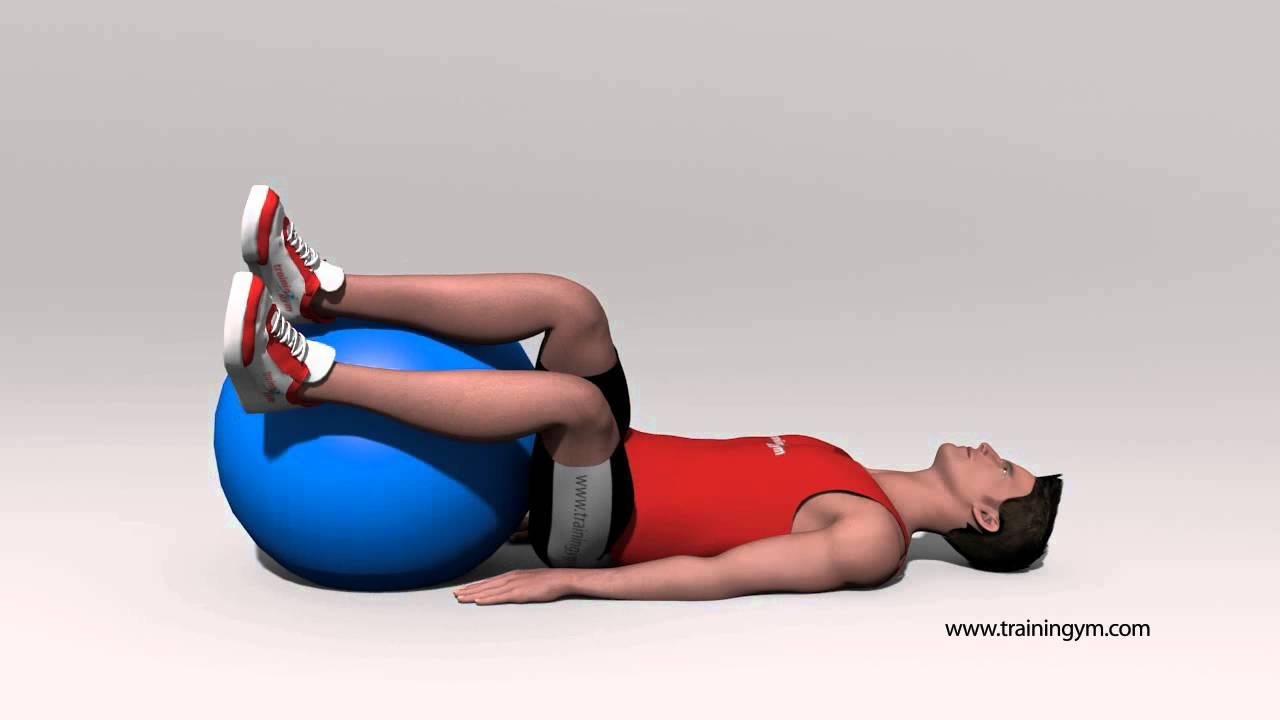 Rotacion de pelvis con fit-ball - YouTube