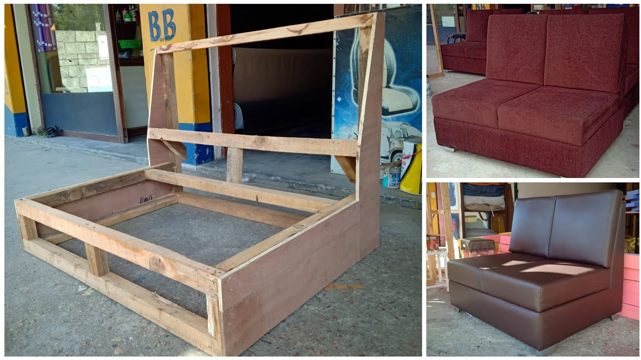 #wood structure, How To Build a simple sofa frame - YouTube