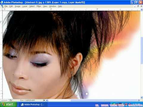 Photoshop CS2 - Phần 1 - Bài 5 - Ghép tóc mai