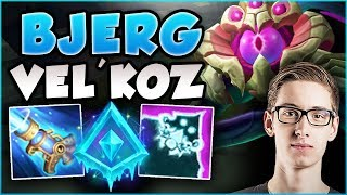JUST HOW BUSTED IS BJERGSEN'S NEW VEL'KOZ BUILD?? BJERGSEN LCS VEL'KOZ BUILD! - League of Legends