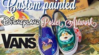 Custom Painted  Disney Vans Shoes Disneyland Peter Pan