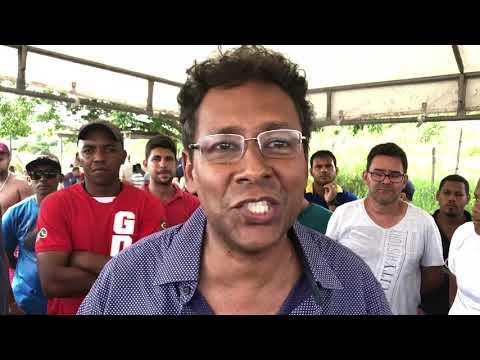 Protesto dos caminhoneiros na BR-101 em Santo Antônio de Jesus