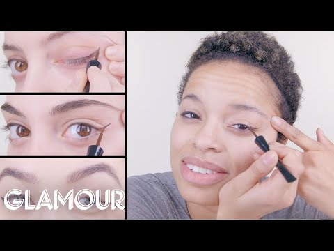 50 Women Try a Cat Eye with Liquid Liner | Glamour