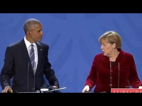 FULL. President Obama with German Chancellor Angela Merkel. Joint News Conference. Nov 17, 2016