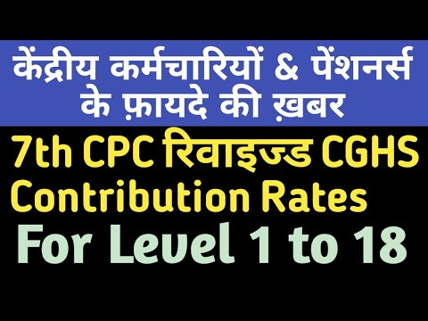 7th CPC revised CGHS Contribution Rates for Govt Employees & Pensioners #CGHS Contribution Rates