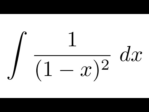Integral Of 11 X2 Youtube