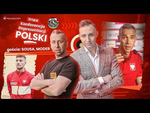 PAULO SOUSA I JAKUB MODER PRZED POLSKA - ANGLIA: KONFERENCJA + STUDIO: WAWRZYNIAK I SŁAWIŃSKI