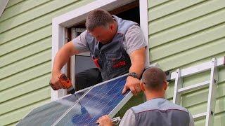 Установка солнечных батарей // FORUMHOUSE(, 2015-08-03T14:36:06.000Z)