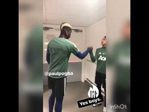 Jesse Lingard Dancing with Paul Pogba Instagram