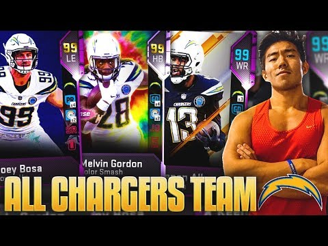 ALL CHARGERS TEAM! MY FAVORITE TEAM LINEUP! Madden 19 Ultimate Team