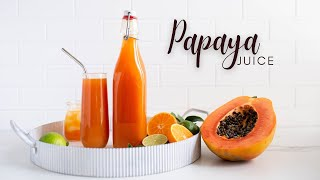 Did you ? Ingredients * 1/2 pawpaw(papaya) * 4 large tangerines * Thumb sized ginger * 1 lime or lemon * turmeric(optional) * Juicer is Hurom H-AA slow ...