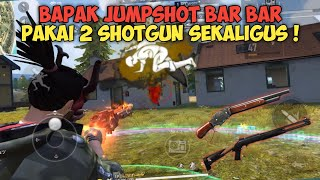 TITISAN FRONTAL GAMING ! RATAIN 5 SQUAD DI BRASILIA PAKAI 2 SHOTGUN ! - FREE FIRE BATTLEGROUND