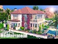 Colorful Mediterranean 🌺🌞|| The Sims 4 Family Home: Speed Build