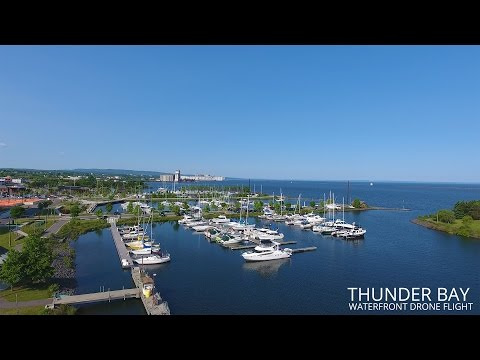 Thunder Bay Waterfront Drone Flight