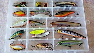 Воблеры и Блёсна из моей коробки. Обзор рыболовных приманок.