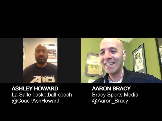La Salle University men's basketball coach Ashley Howard Interviews with Bracy Sports Media