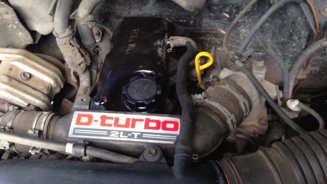 Toyota Hilux LN165R 2L-T turbo diesel engine problem start up + rev sound