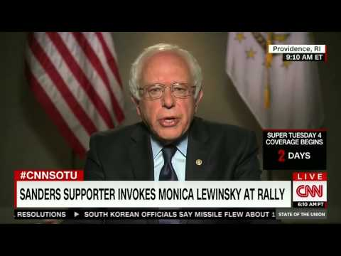 Sanders Won't Say if Monica Lewinsky is Off-Limits on the Campaign Trail