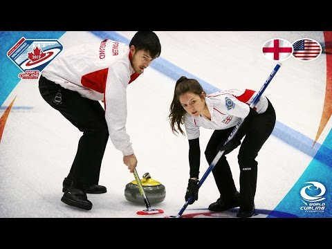 England v USA - Round-robin - World Mixed Doubles Curling Championship 2017