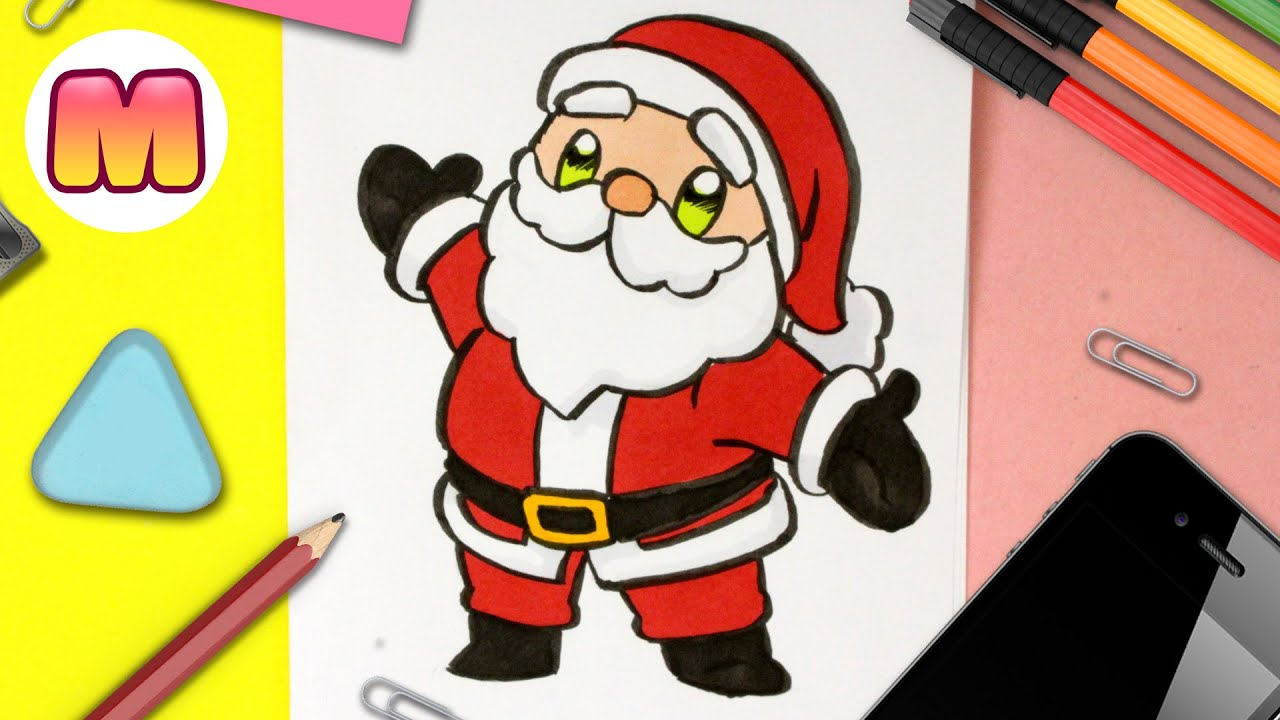 Cómo Dibujar A Papá Noel Kawaii Fácil Dibujos De Navidad Faciles How To Draw Santa Claus Youtube