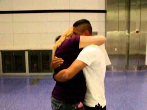 Marine Boyfriend Homecoming at the Airport...surprise weekend