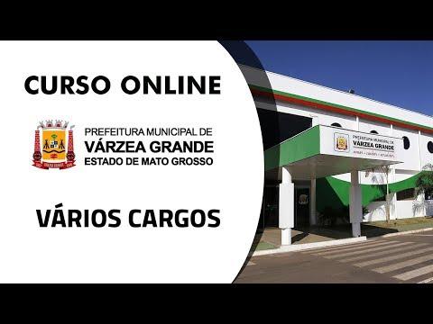 Curso Online - Prefeitura de Várzea Grande - Cargos Diversos