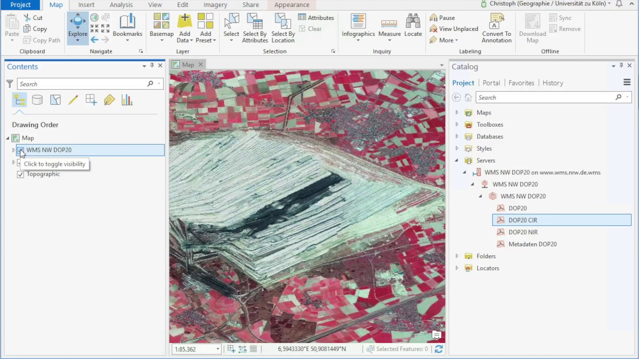 Add WMS to ArcGIS pro