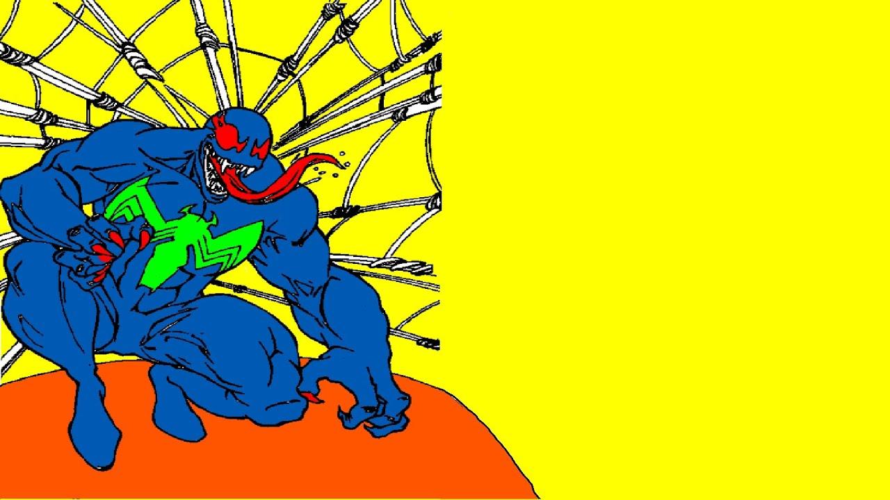 spiderman coloring book venom coloring page superheroes