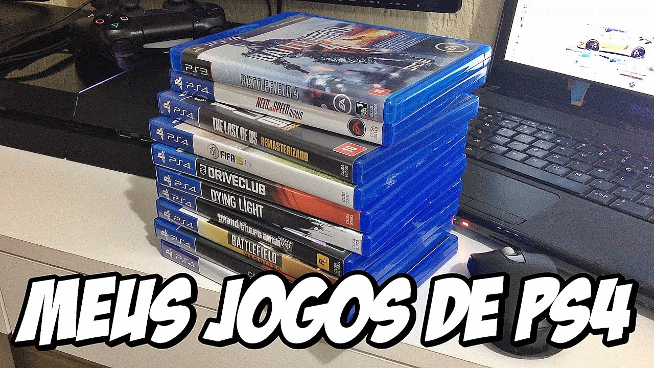 meus jogos de ps4 m dia f sica meus games playstation 4 youtube. Black Bedroom Furniture Sets. Home Design Ideas
