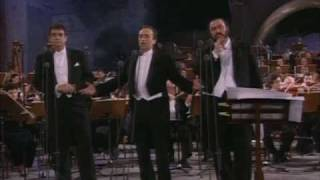Los Tres Tenores -Nessun Dorma to choir- Roma 7/7/1990