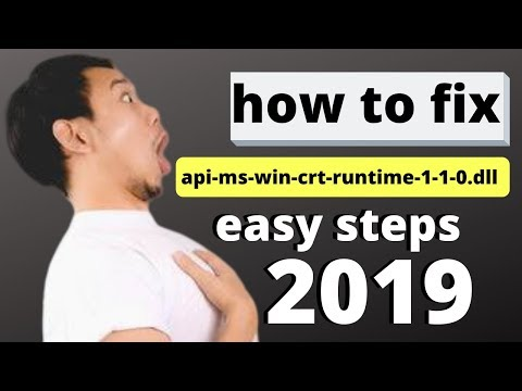 How To Fix Api-ms-win-crt-runtime-l1-1-0.dll Is Missing In 2019 | Easy Steps