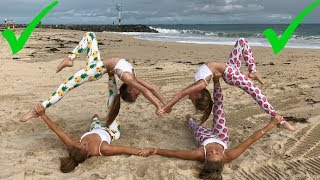 One of The Rybka Twins's most viewed videos: Extreme Yoga Challenge Big sisters vs Little sisters | The Rybka Twins