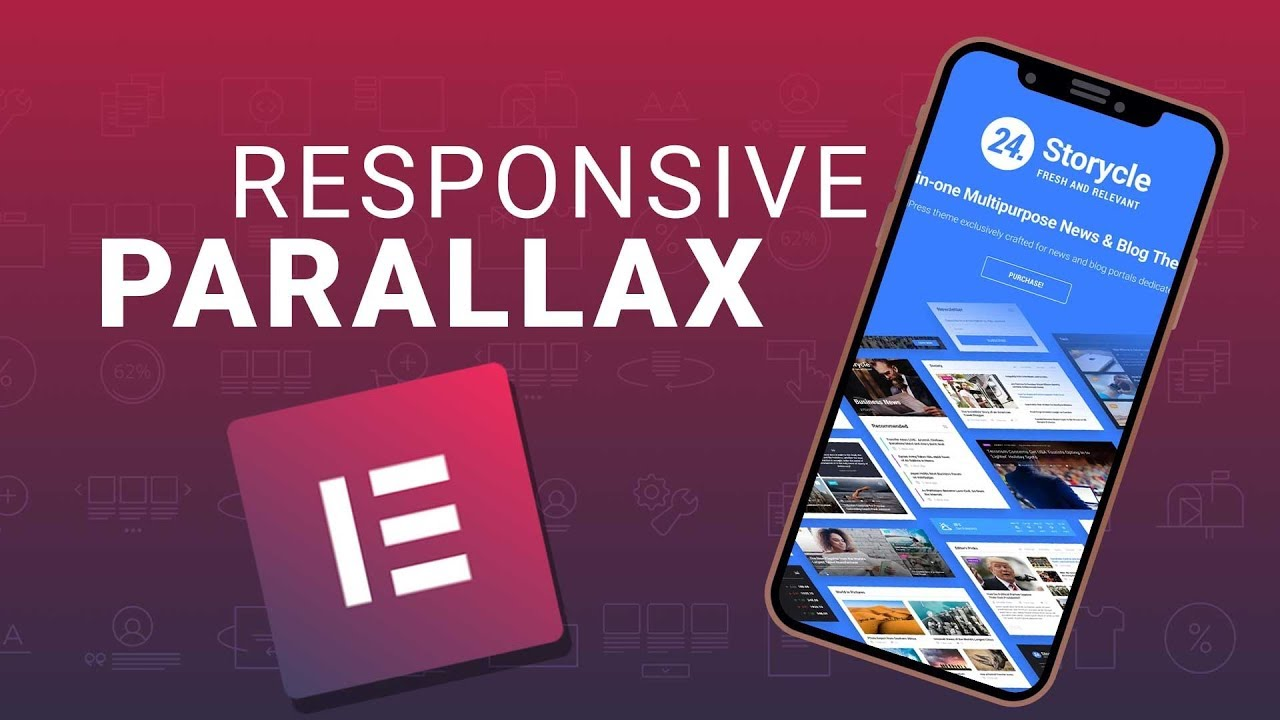 RESPONSIVE PARALLAX with Elementor | Add Parallax Scrolling Effect for  Mobile Devices