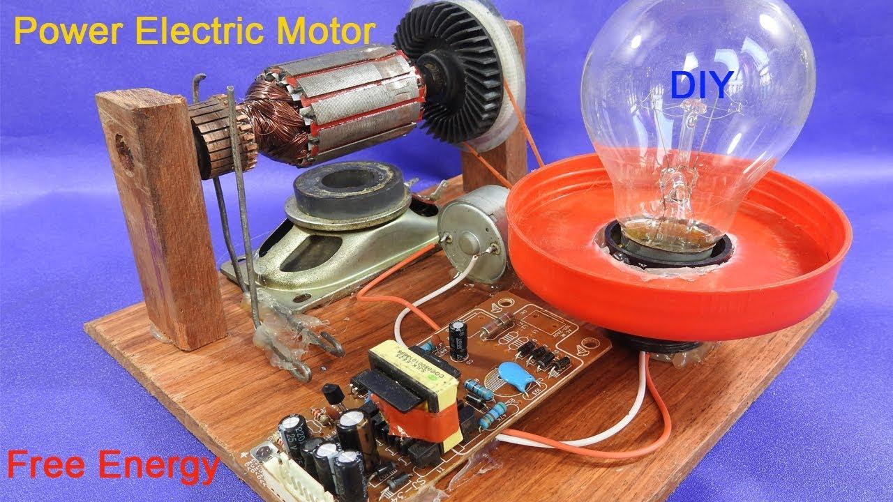 Work 100 Power Electric Motor Generator 12v Make Free
