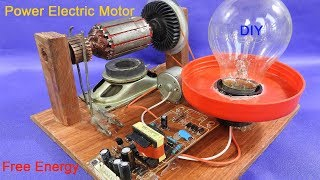 Work 100% power electric motor generator 12v make free energy using magnets - Science Project 2018