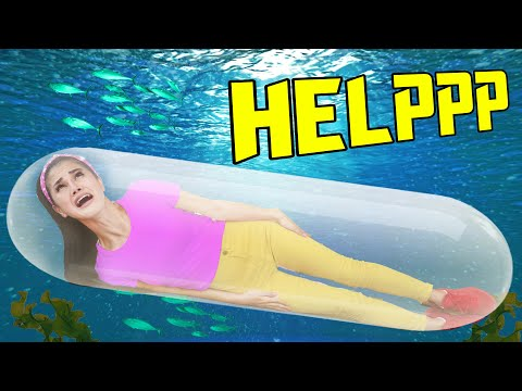 SINKING UNDERWATER in a SUBMARINE! I Built a Giant DIY Sub for Vy Try Not To Float Pool Challenge!