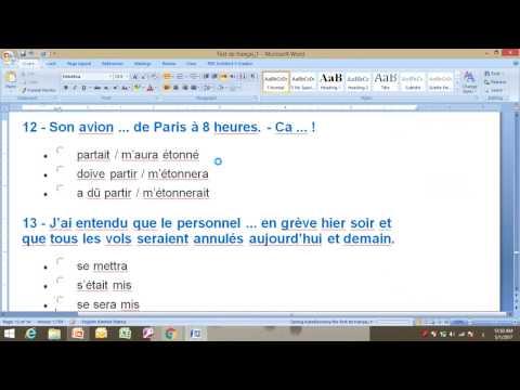 Test de français niveau (A2-2)