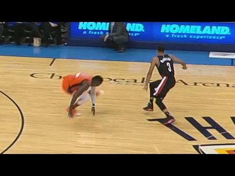 CJ McCollum Drops Oladipo! Westbrook Gives Aminu a Map! Blazers vs Thunder