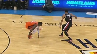 Cj mccollum drops oladipo! westbrook gives aminu a map! blazers vs thunder