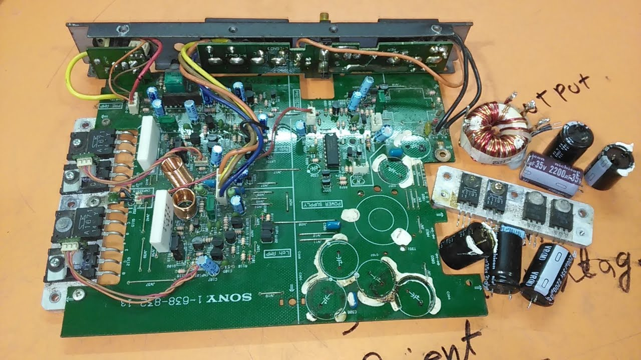How To Repair Sony Car Amplifier Youtube Stereo Circuit Howtomakeamplifier Amplifiercircuit 2sc5200
