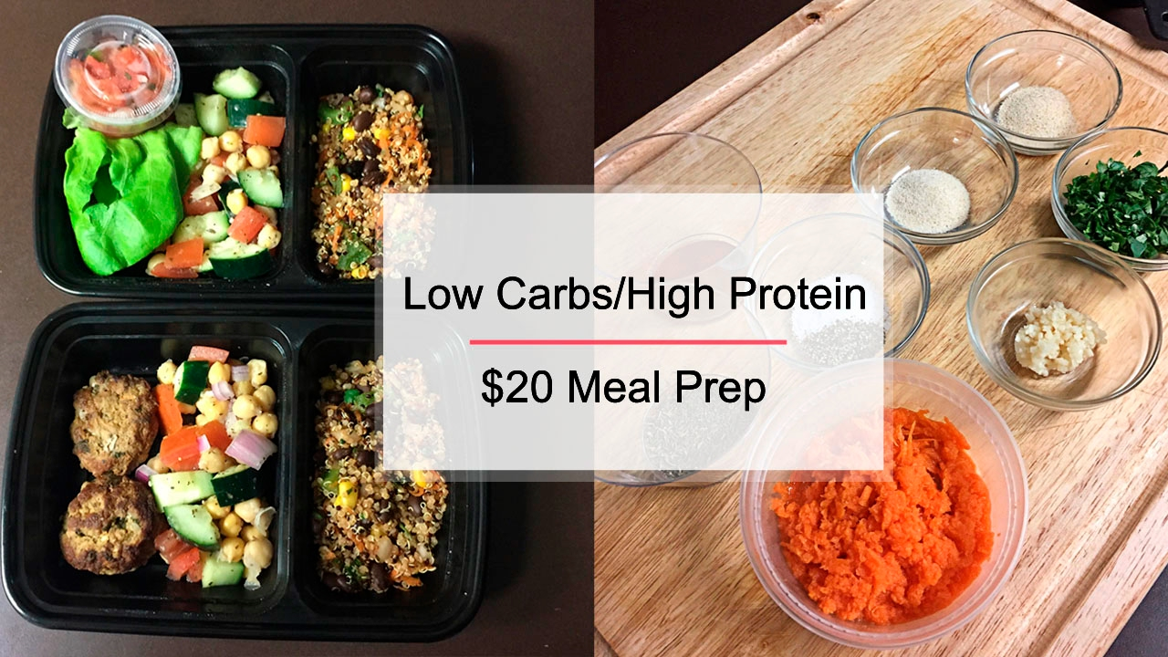 How To Meal Prep - $20 Low Carb/High Protein ...
