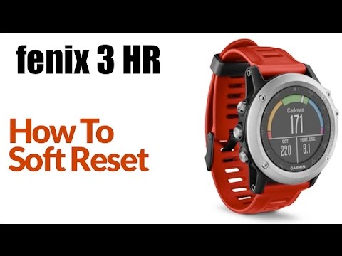 How To Soft Reset Garmin fenix 3 HR (Clear User Data)