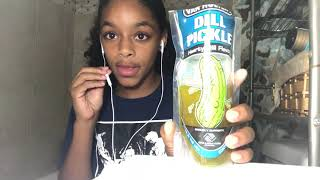 Eating a big pickle (very hilarious) !!!! thumbnail